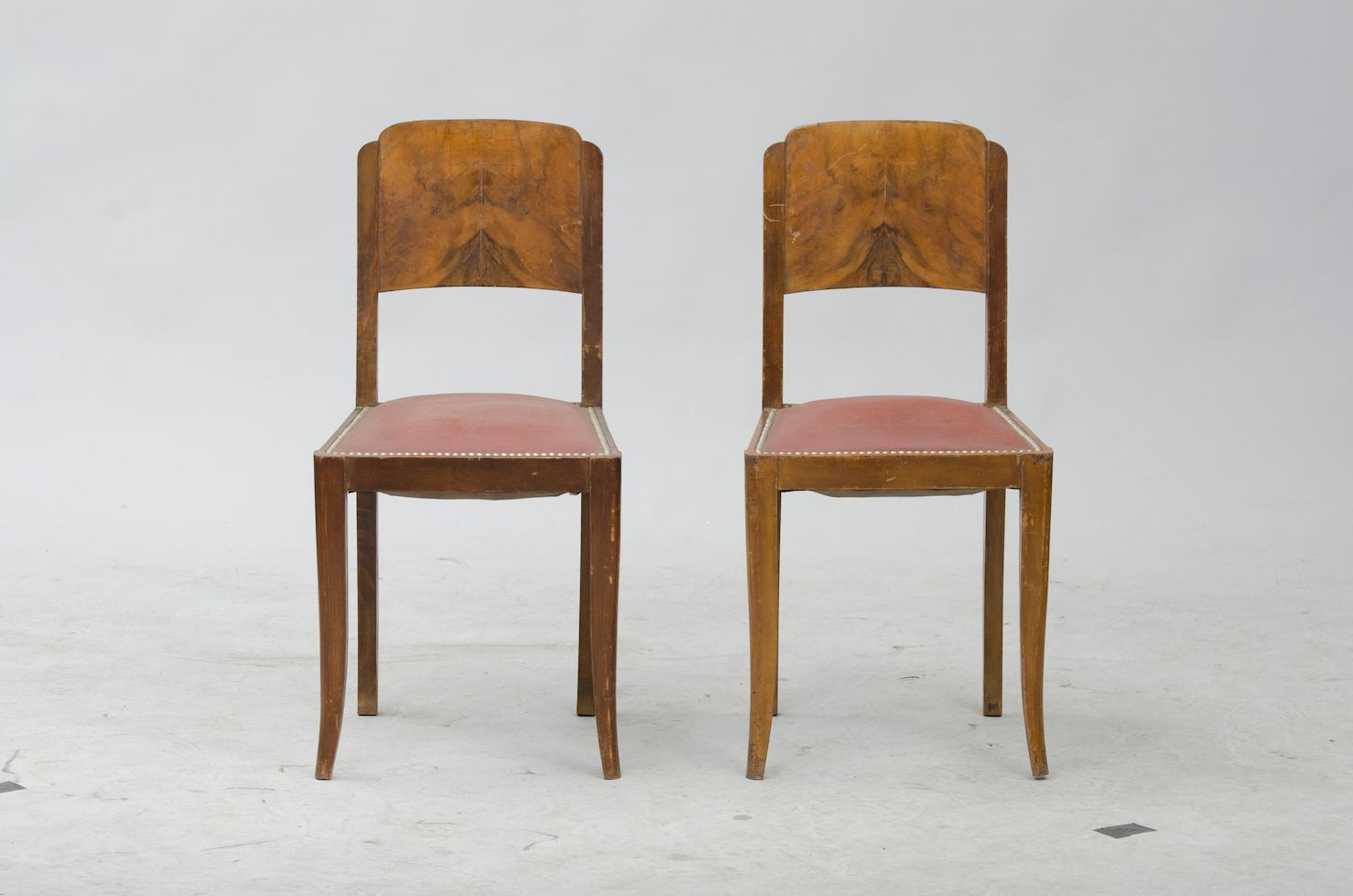 Vintage french walnut dining chairs set of 6 for sale at for Set of 6 dining chairs