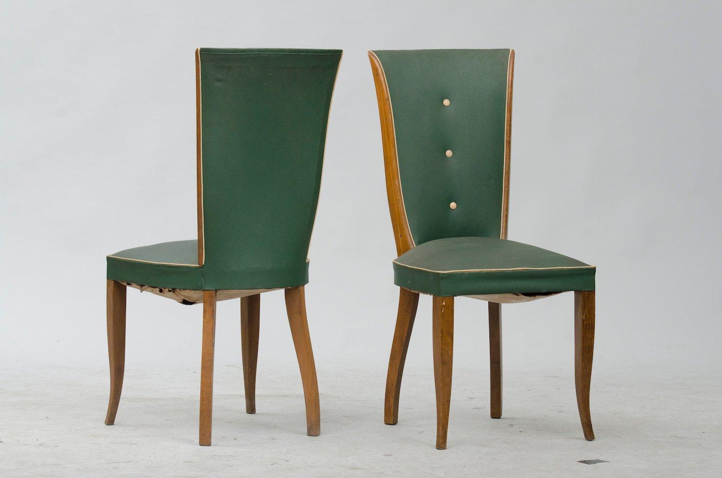 art deco esszimmerst hle 6er set bei pamono kaufen. Black Bedroom Furniture Sets. Home Design Ideas