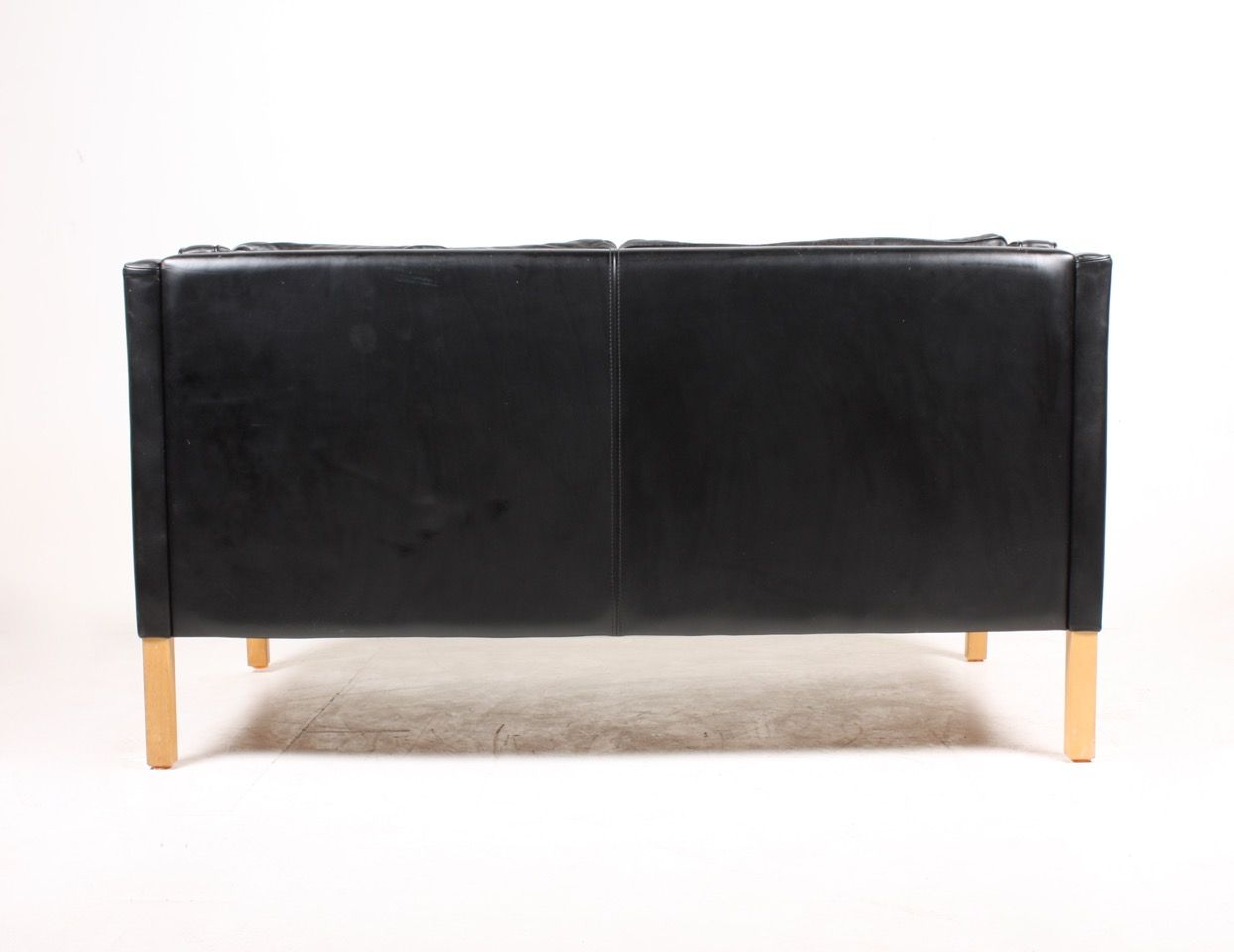 Danish two seater eva leather sofa from stouby 1980s for for Leather sofa 7 seater