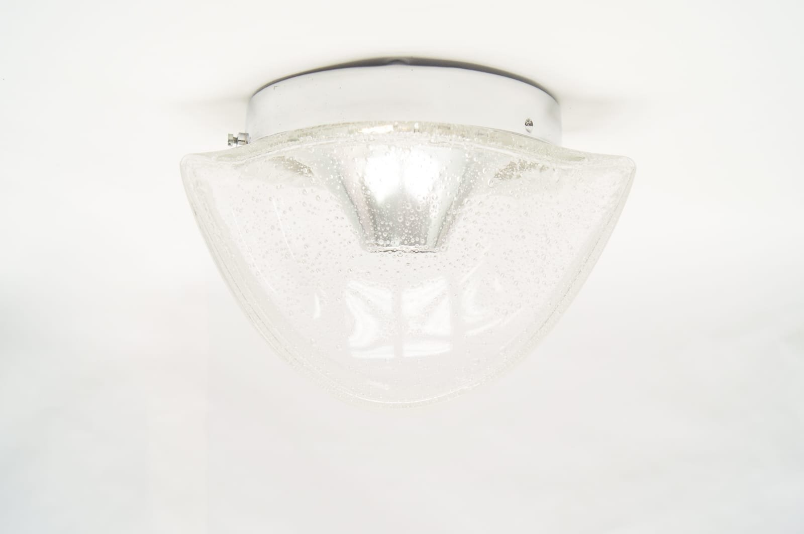 Small Led Wall Lights : Small Frosted Glass Wall Lights, 1960s, Set of 2 for sale at Pamono