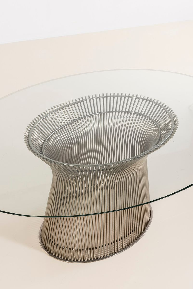 American Oval Wire Dining Table by Warren Platner for Knoll, 1966 ...