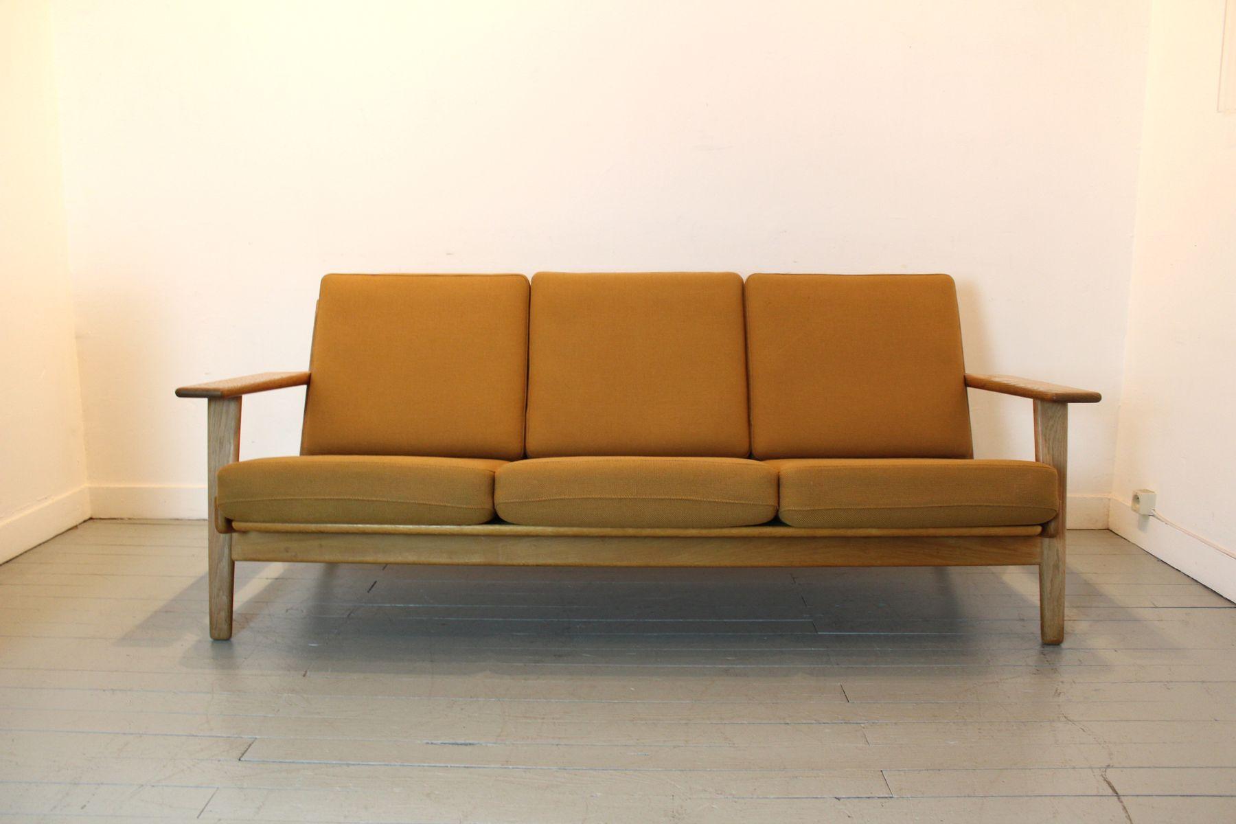 ge 290 sofa by hans wegner for getama 1960s for sale at pamono. Black Bedroom Furniture Sets. Home Design Ideas