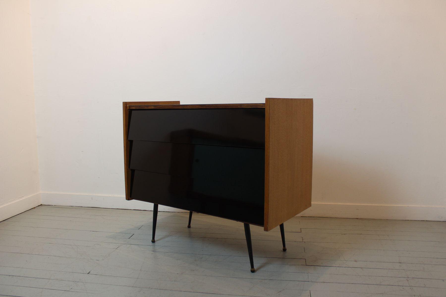 mid century kommode mit drei schubladen bei pamono kaufen. Black Bedroom Furniture Sets. Home Design Ideas