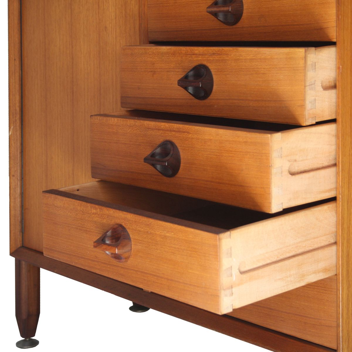 Italian wooden shelf cabinets set of 2 for sale at pamono for Italian cabinets