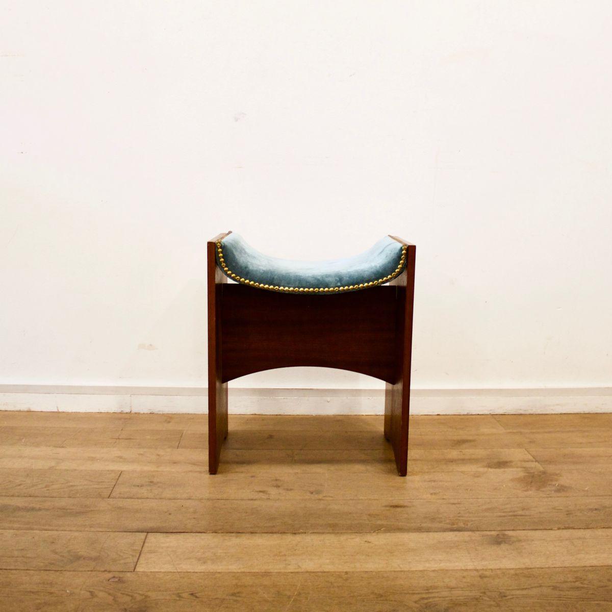 hocker mit samtbezug 1940er bei pamono kaufen. Black Bedroom Furniture Sets. Home Design Ideas