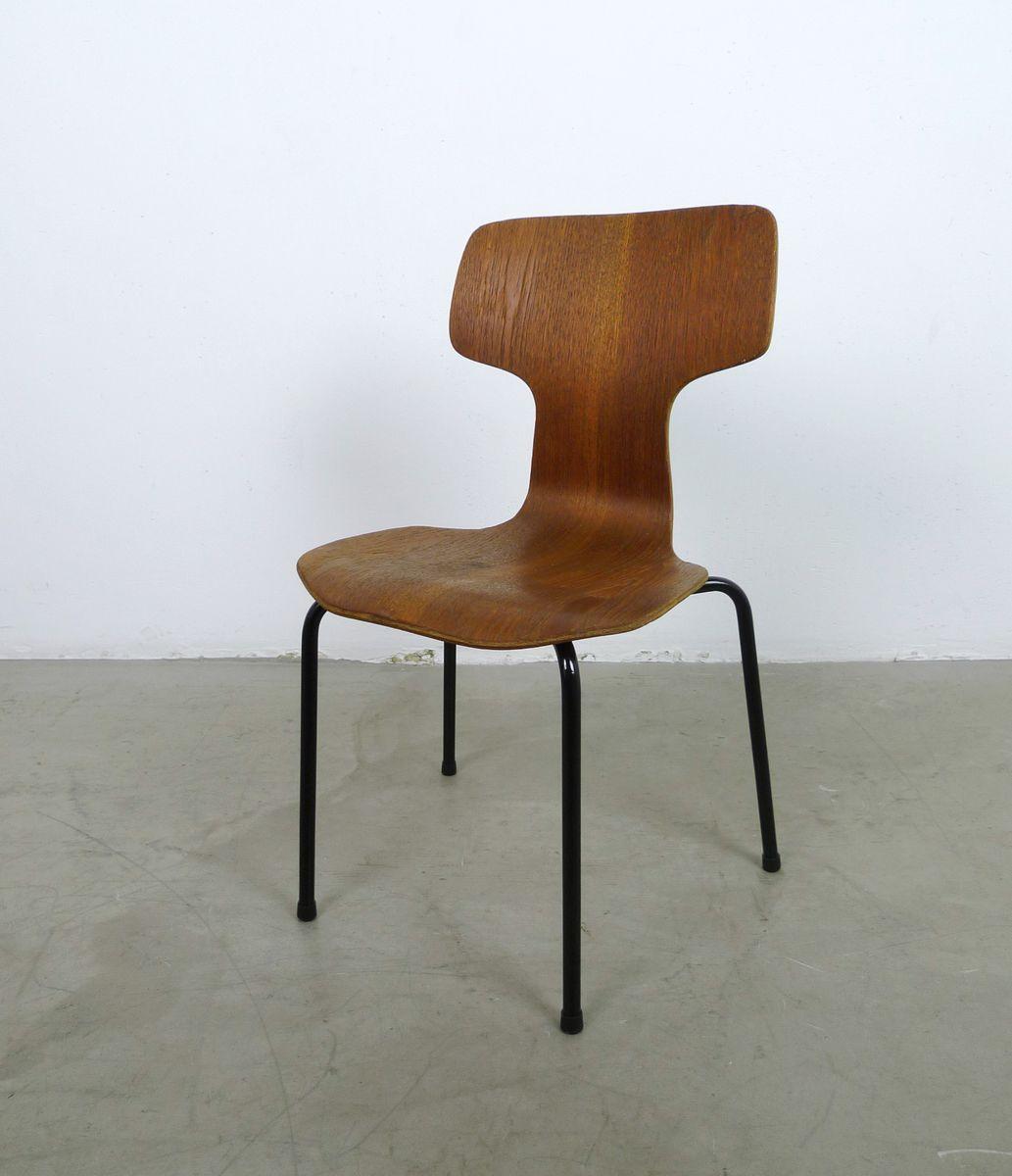Hammer teak children 39 s chair by arne jacobsen for fritz for Chaise arne jacobsen