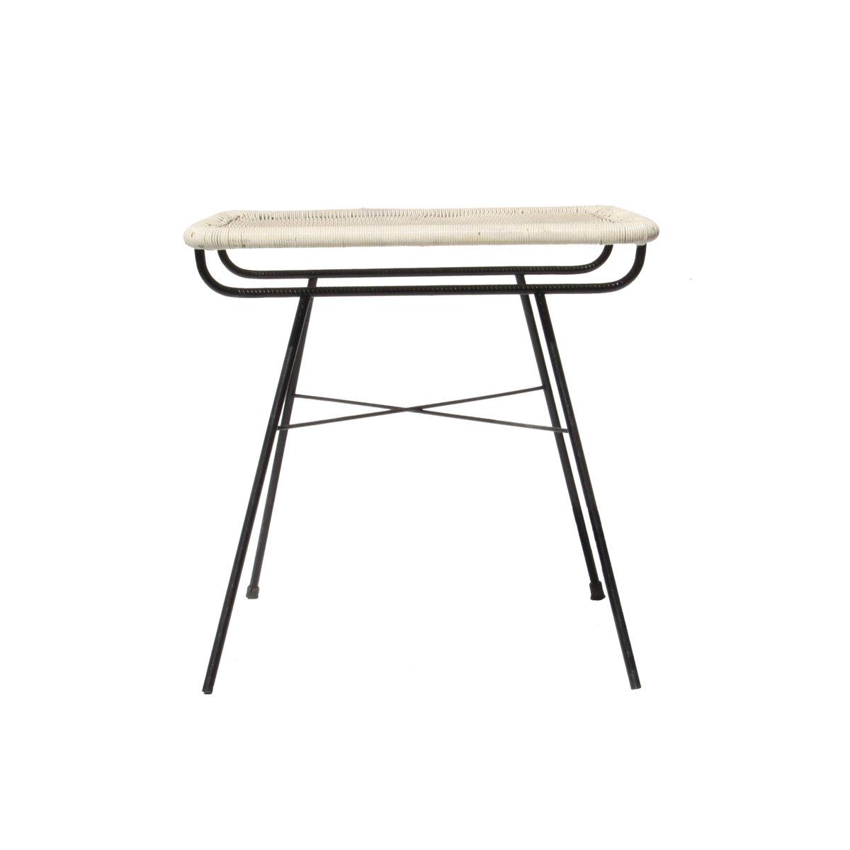beistelltisch aus metall kunstfaser 1960er bei pamono. Black Bedroom Furniture Sets. Home Design Ideas