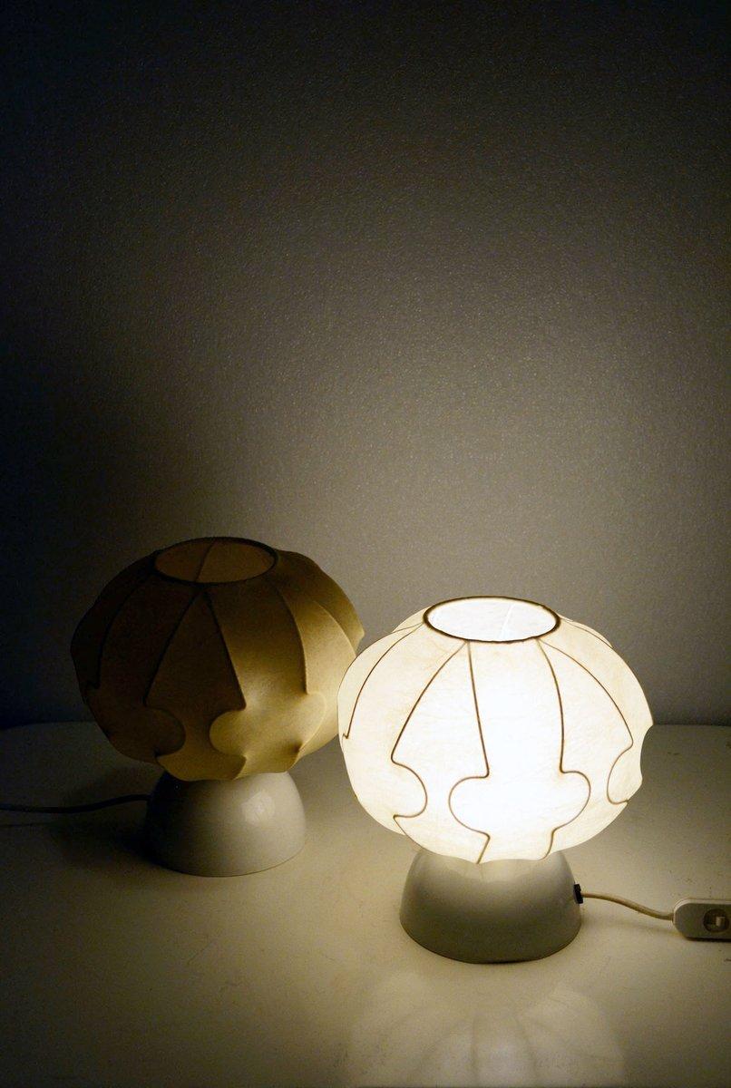 italienische kokon lampen 1960er 2er set bei pamono kaufen. Black Bedroom Furniture Sets. Home Design Ideas