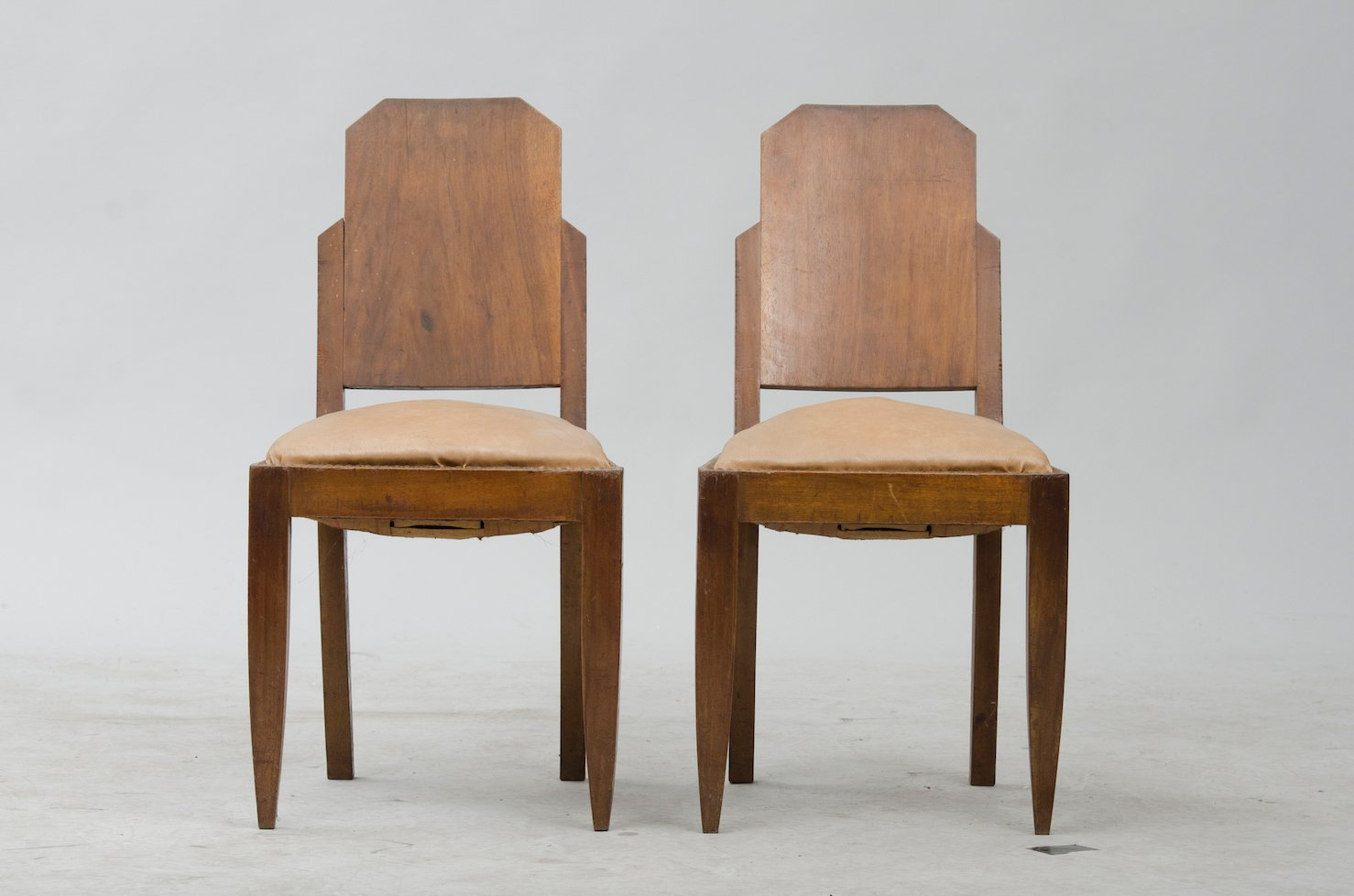 Vintage art deco dining chairs set of 6 for sale at pamono for Set of 6 dining chairs