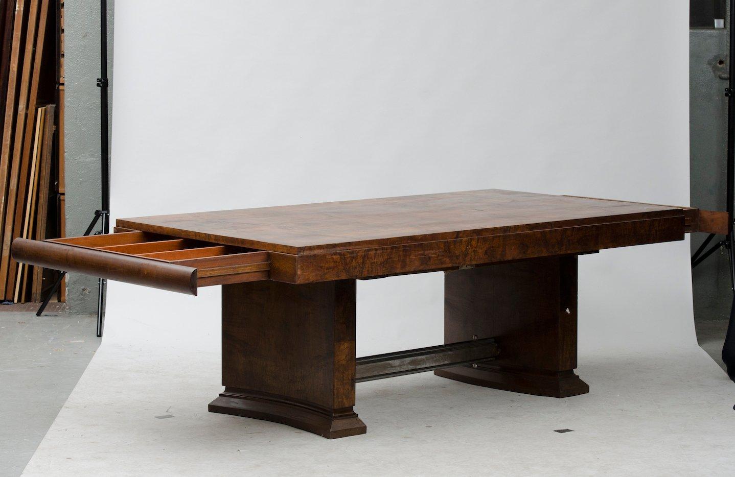vintage art deco esstisch bei pamono kaufen. Black Bedroom Furniture Sets. Home Design Ideas
