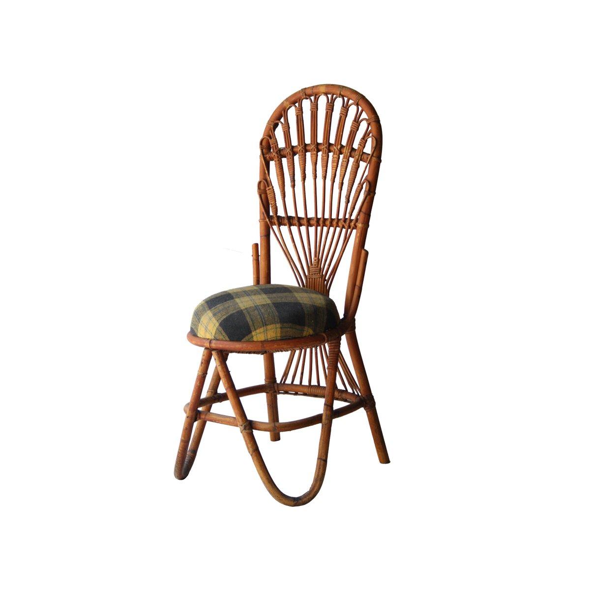 chaise en bambou france 1960s en vente sur pamono. Black Bedroom Furniture Sets. Home Design Ideas