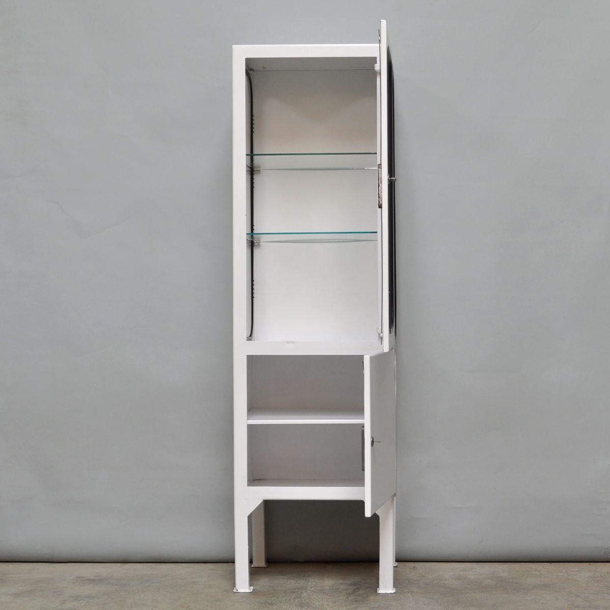 vintage medicine cabinet with two glass shelves 1975 for. Black Bedroom Furniture Sets. Home Design Ideas