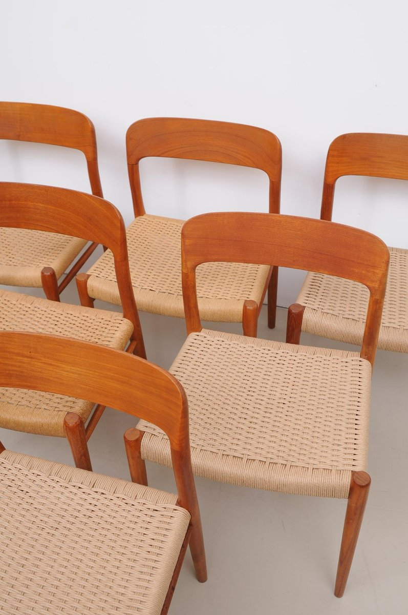 d nische modell 75 st hle von niels m ller f r j l m ller. Black Bedroom Furniture Sets. Home Design Ideas