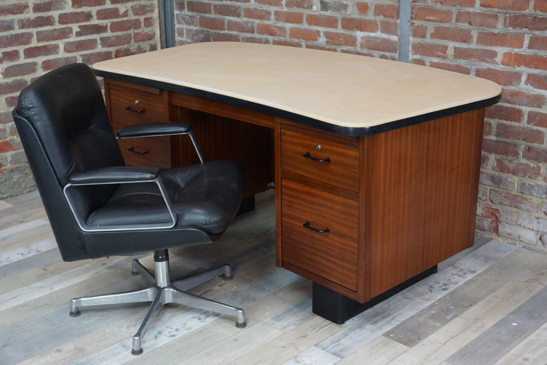 Teak office desk 1950s for sale at pamono - Teak office desk ...