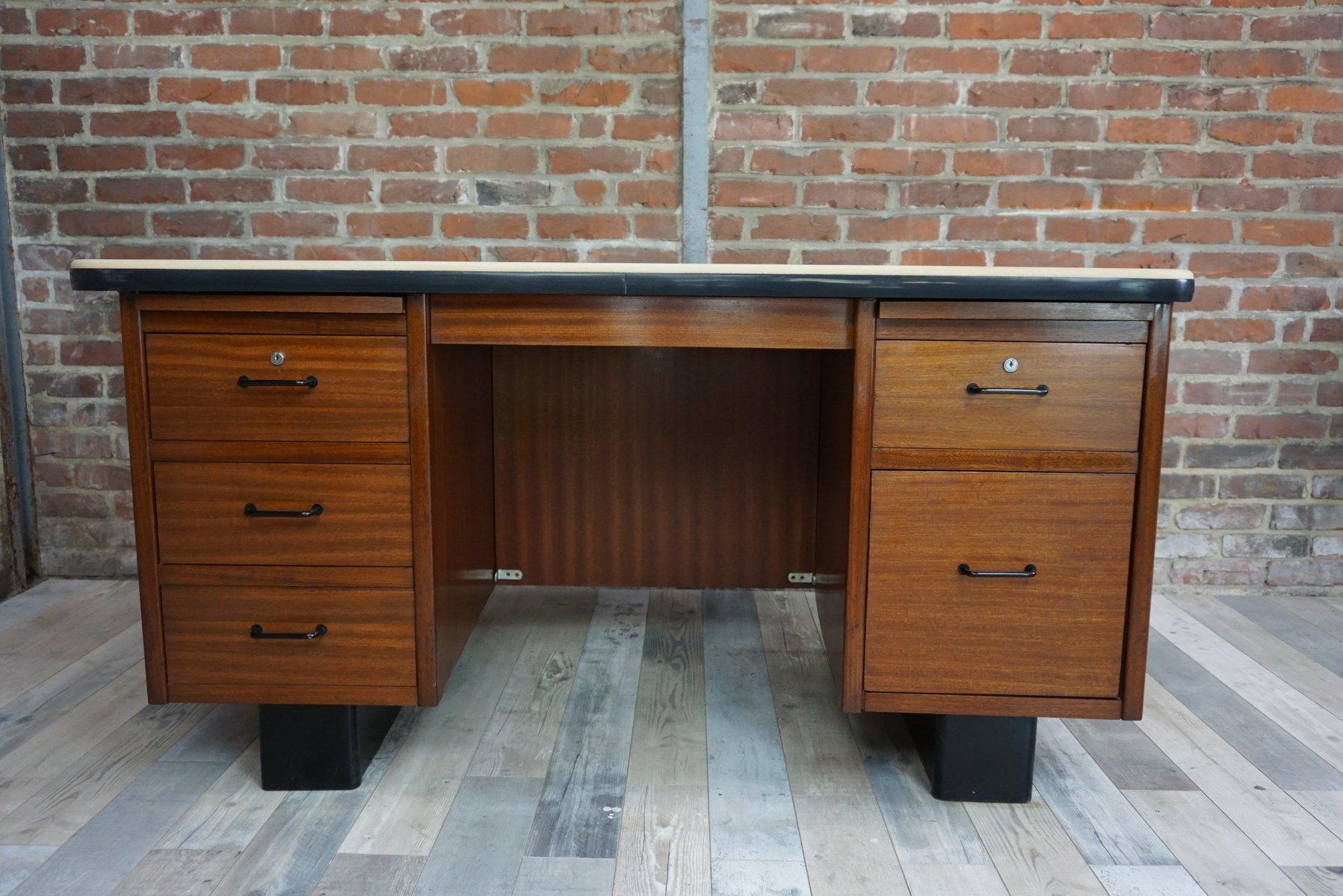teak schreibtisch 1950er bei pamono kaufen. Black Bedroom Furniture Sets. Home Design Ideas