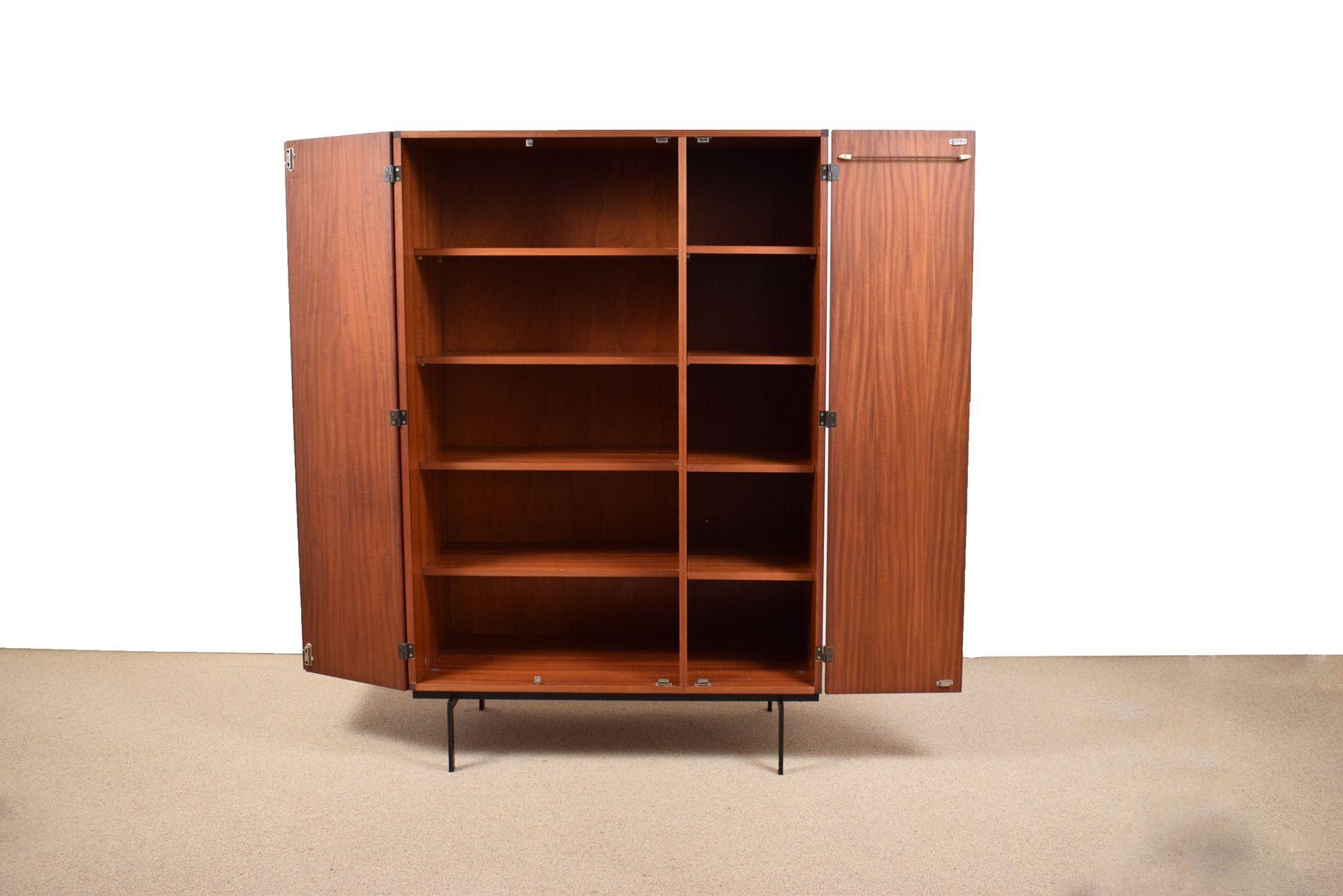 vintage ku10 teak kleiderschrank von cees braakman f r. Black Bedroom Furniture Sets. Home Design Ideas