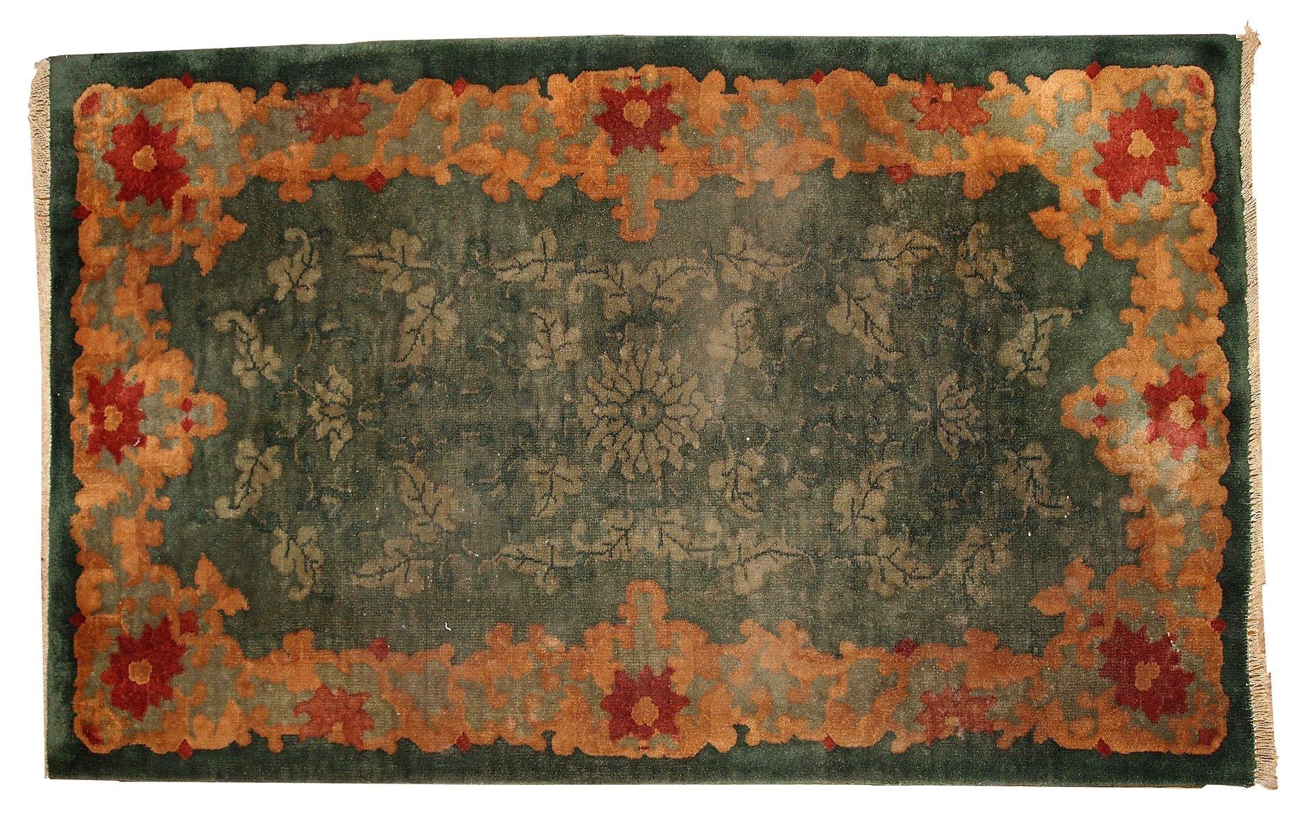 handgemachter chinesischer art deco teppich 1920er bei pamono kaufen. Black Bedroom Furniture Sets. Home Design Ideas