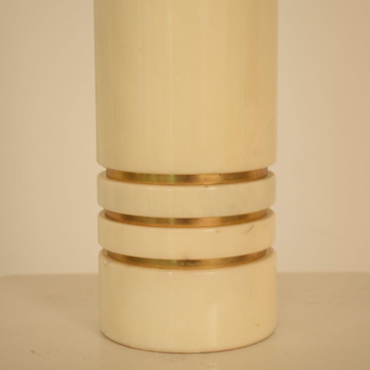 Lampe de bureau mid century en marbre et laiton 1970s en for Bureau en marbre