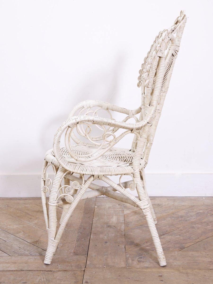 armlehnstuhl aus korbgeflecht 1970er bei pamono kaufen. Black Bedroom Furniture Sets. Home Design Ideas