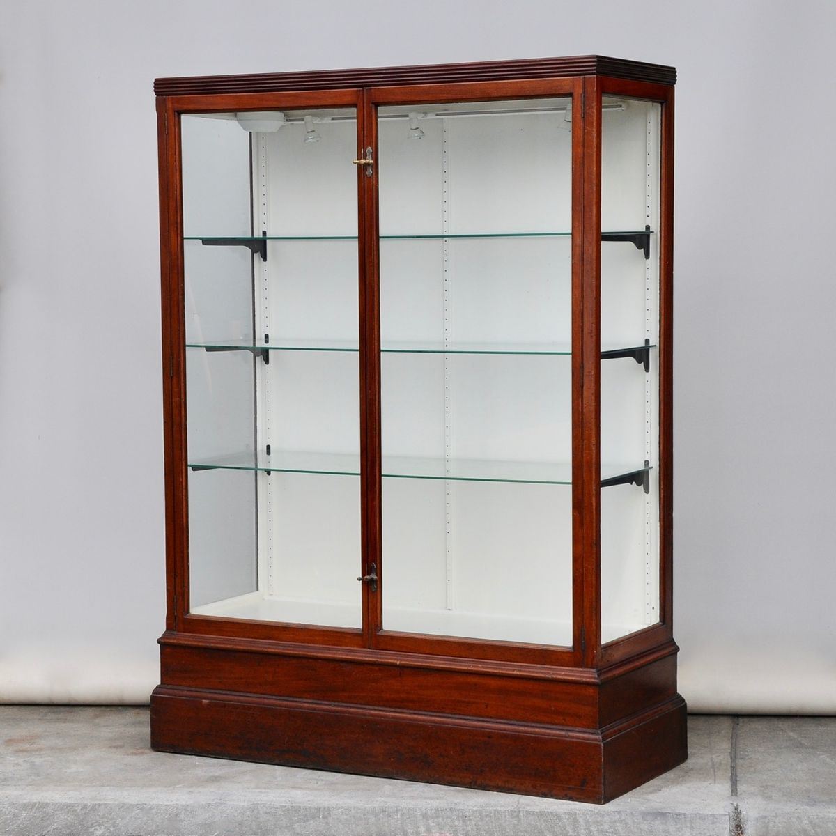 Antique Mahogany Shop Display Cabinet for sale at Pamono