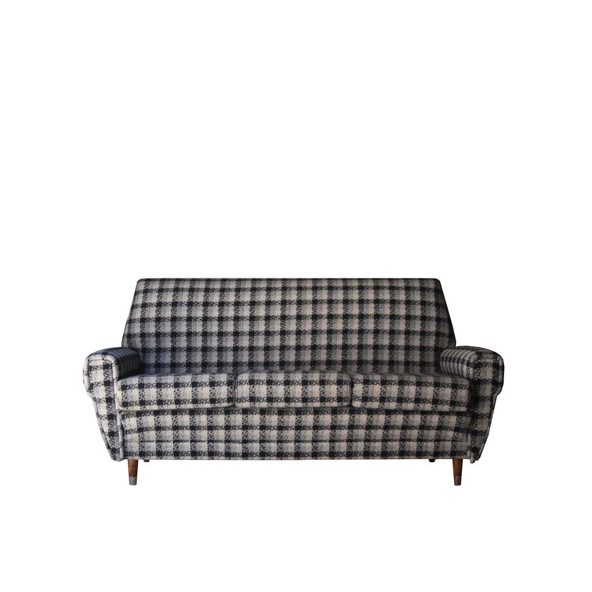 canap trois places france 1950s en vente sur pamono. Black Bedroom Furniture Sets. Home Design Ideas