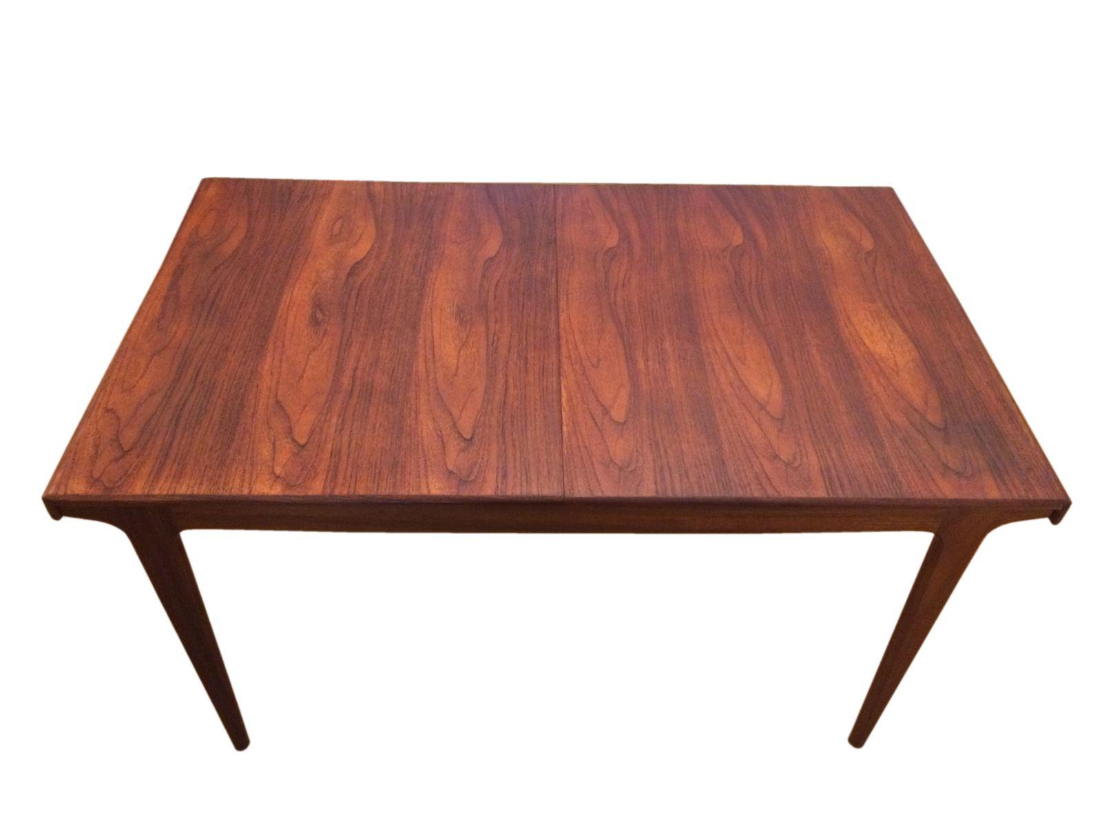 Table de salle manger 8 places mid century en teck par for Salle a manger 4 places