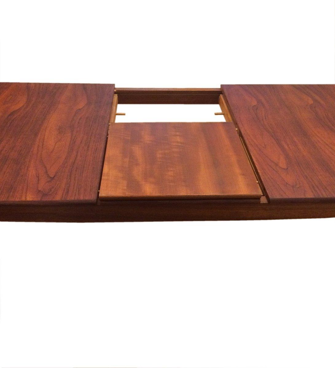 Table de salle manger 8 places mid century en teck par for Salle a manger 6 places