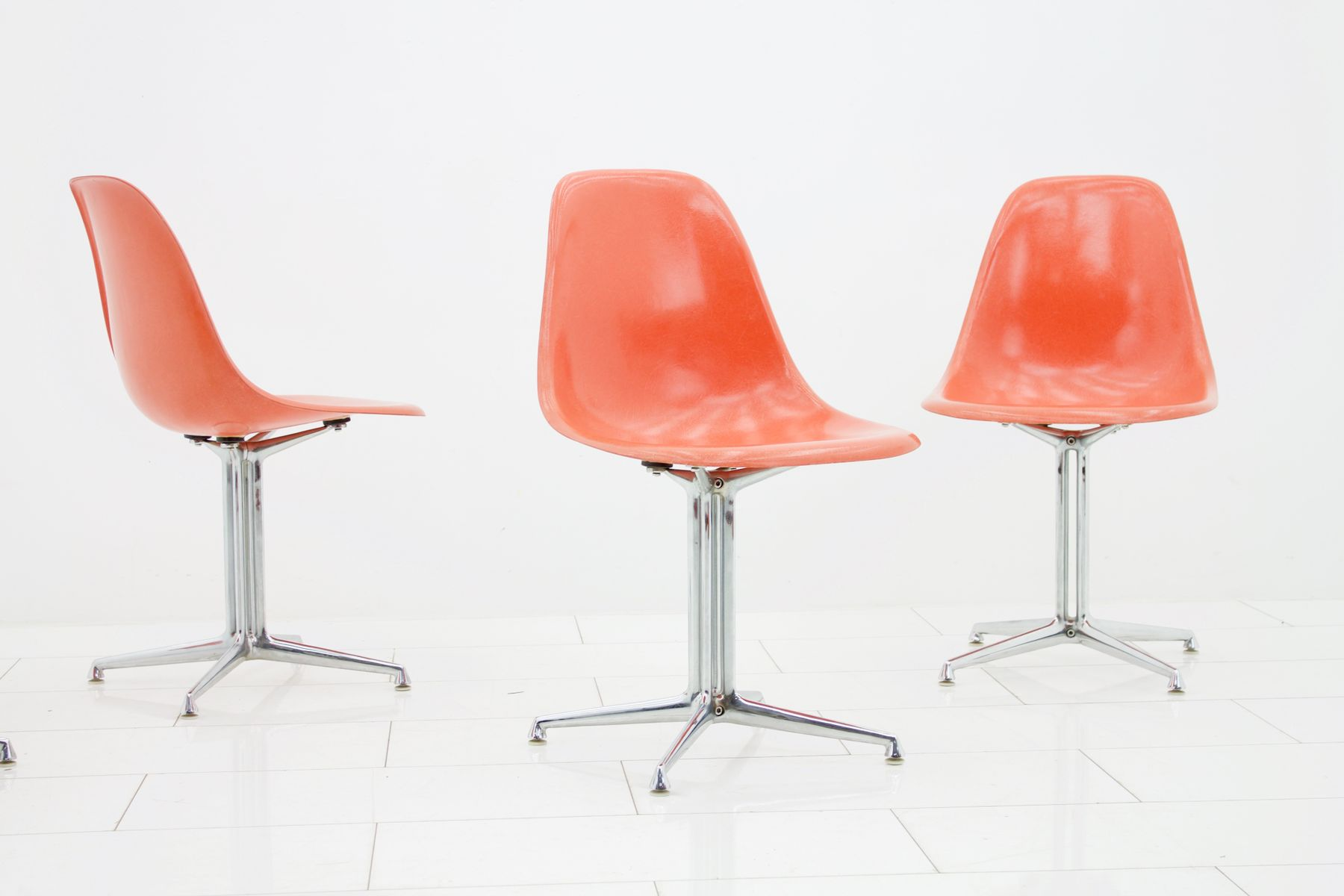 Vintage La Fonda Side Chairs by Charles & Ray Eames for Vitra Set