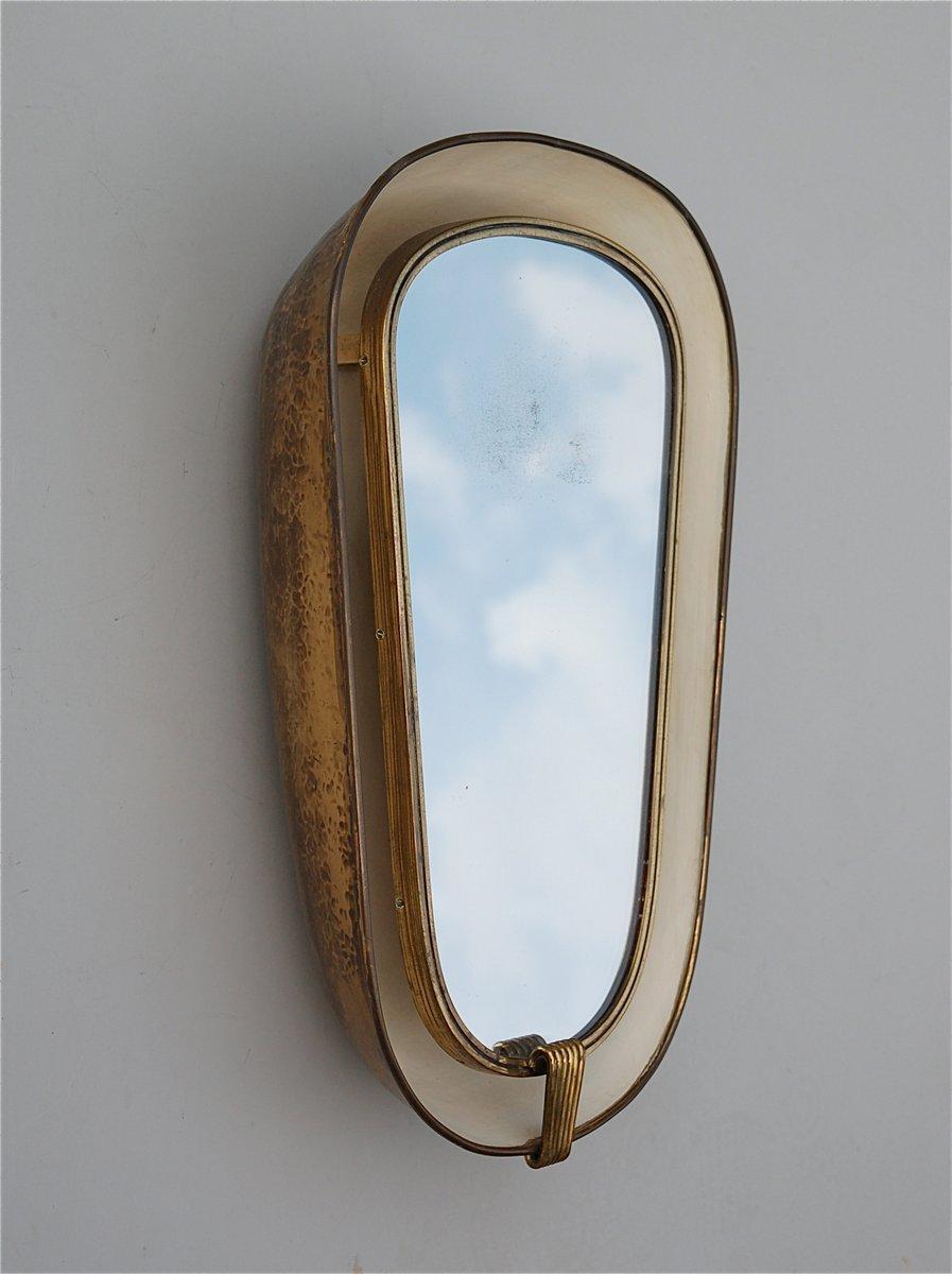 Hinterleuchteter franz sischer art deco spiegel mit tiefem messingrahmen bei pamono kaufen - Deco spiegel ...