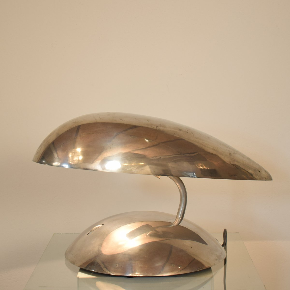 polished aluminum space age table lamp 1980s for sale at pamono. Black Bedroom Furniture Sets. Home Design Ideas