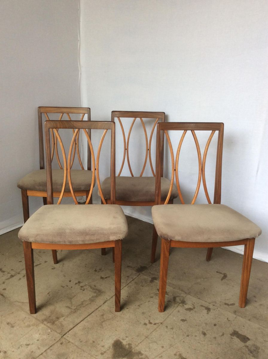 Teak dining chairs from g plan 1970s set of 6 for sale for G plan teak dining room chairs