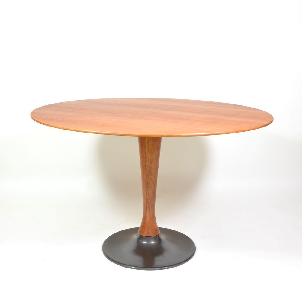 Czech Round Dining Table From Drevotvar 1980s For Sale At Pamono