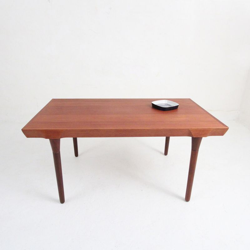 gro er mid century teak esstisch bei pamono kaufen. Black Bedroom Furniture Sets. Home Design Ideas