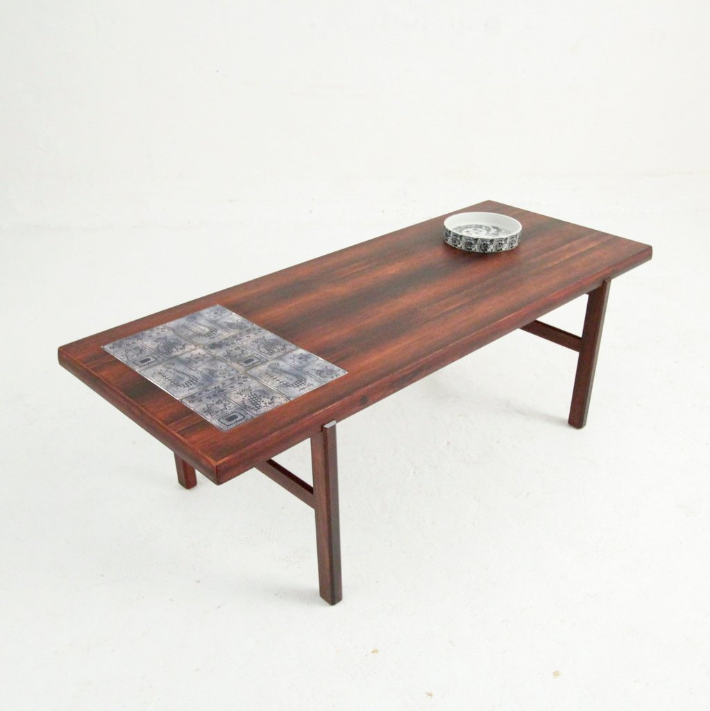 Mid-Century AH 20 Rosewood Coffee Table From Arrebo Møbler