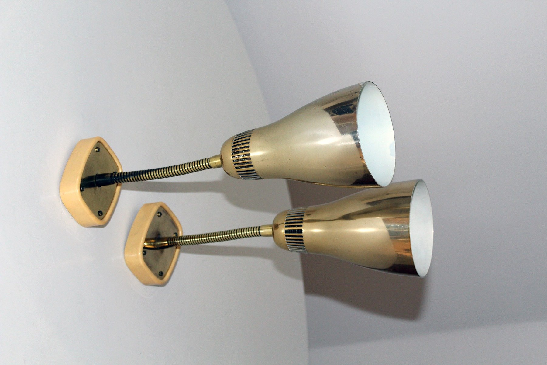 Wall Lights With Adjustable Arms : Wall Lights with Adjustable Arm from Rupert Nikoll, 1950s, Set of 2 for sale at Pamono