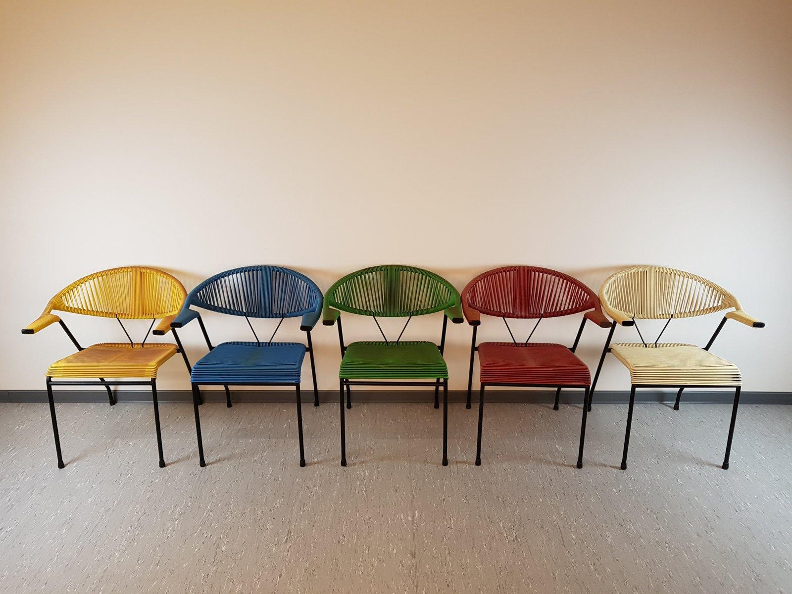 Fauteuils Vintage Colorés S Set De En Vente Sur Pamono - Fauteuils colores