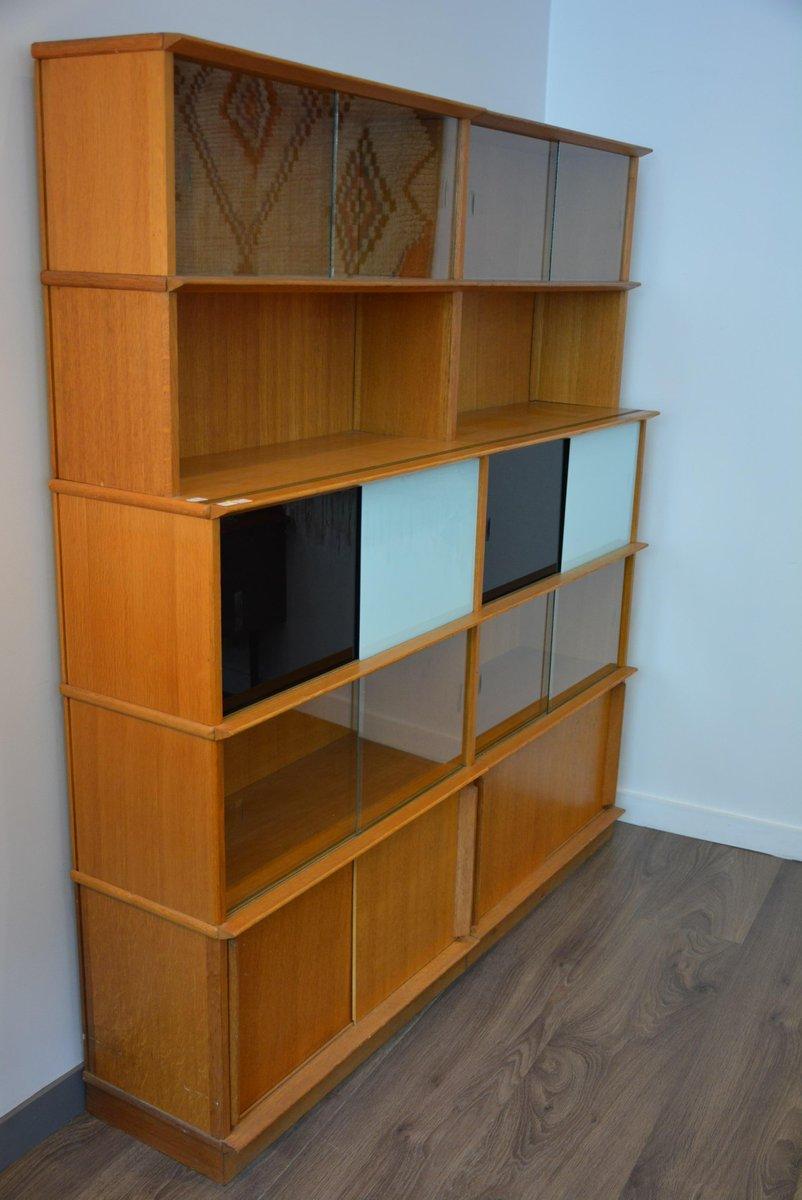 biblioth que vintage en bois en vente sur pamono. Black Bedroom Furniture Sets. Home Design Ideas