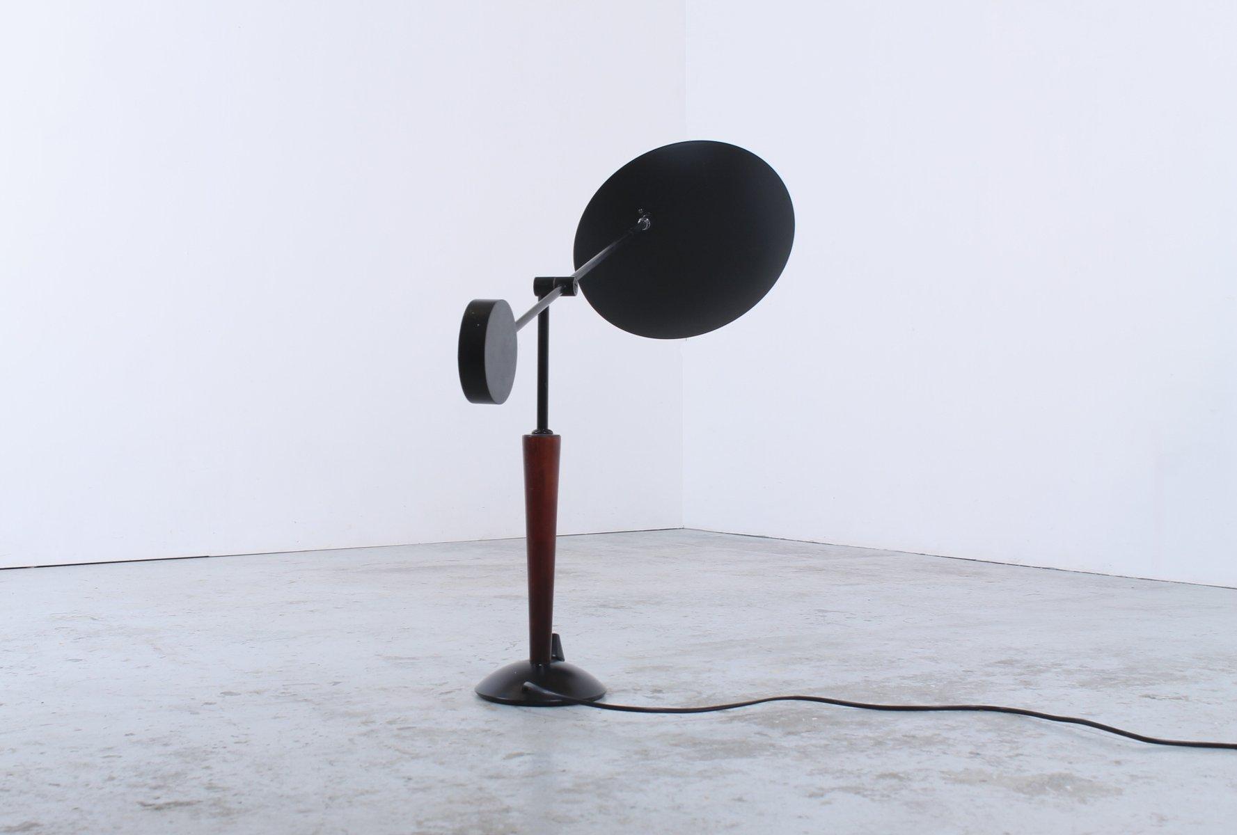 schwarze vintage gegengewicht lampe aus metall von herda bei pamono kaufen. Black Bedroom Furniture Sets. Home Design Ideas