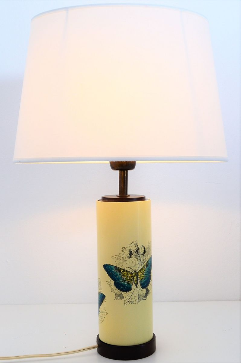 Table Lamp With Butterflies By Piero Fornasetti, 1950s