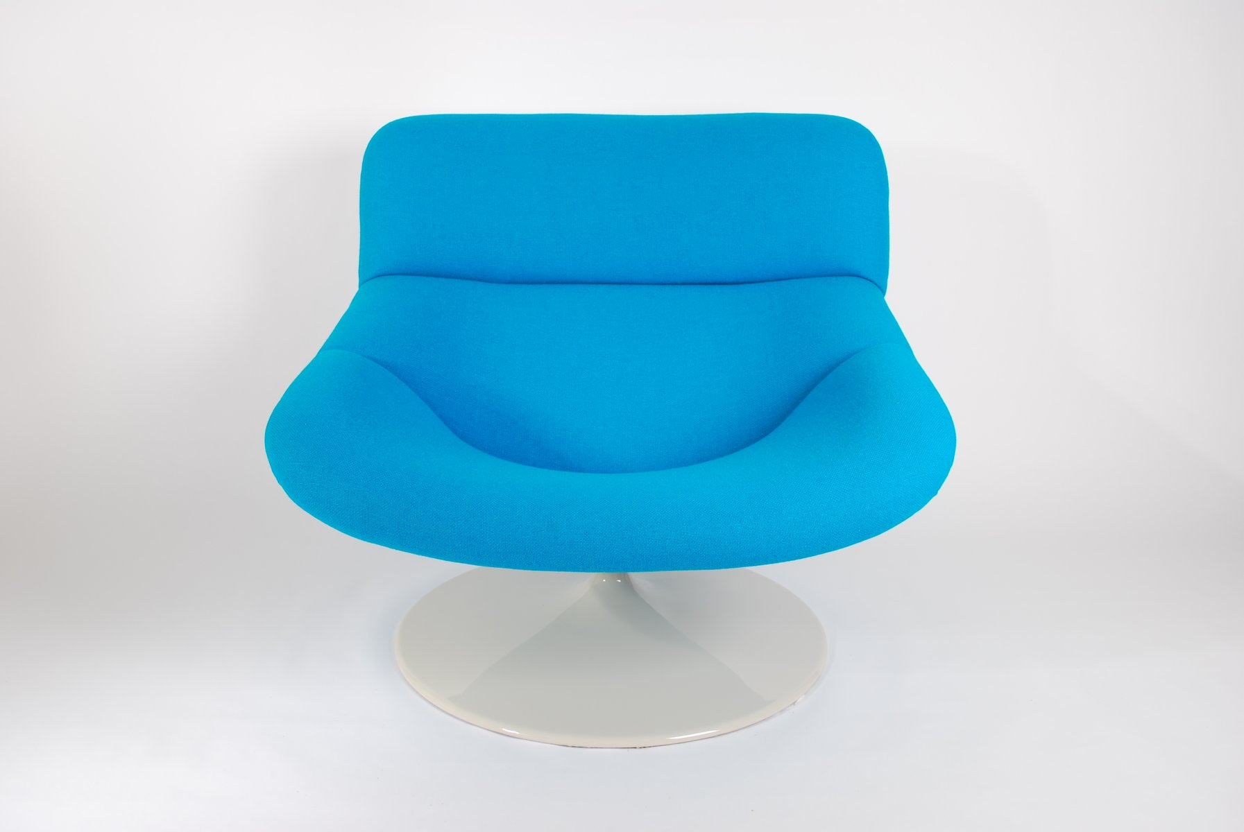 Vintage Blue F518 Lounge Swivel Chair by Geoffrey Harcourt for