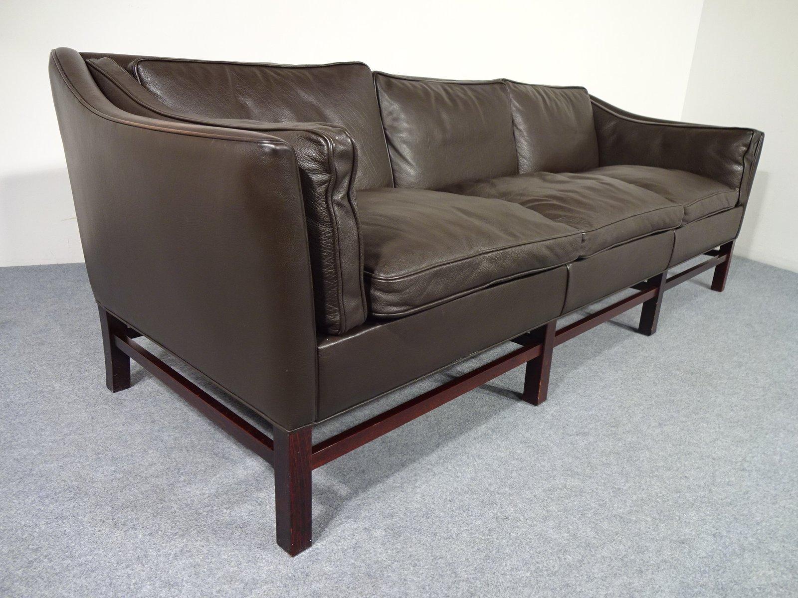 vintage danish leather sofa by georg thams for vejen