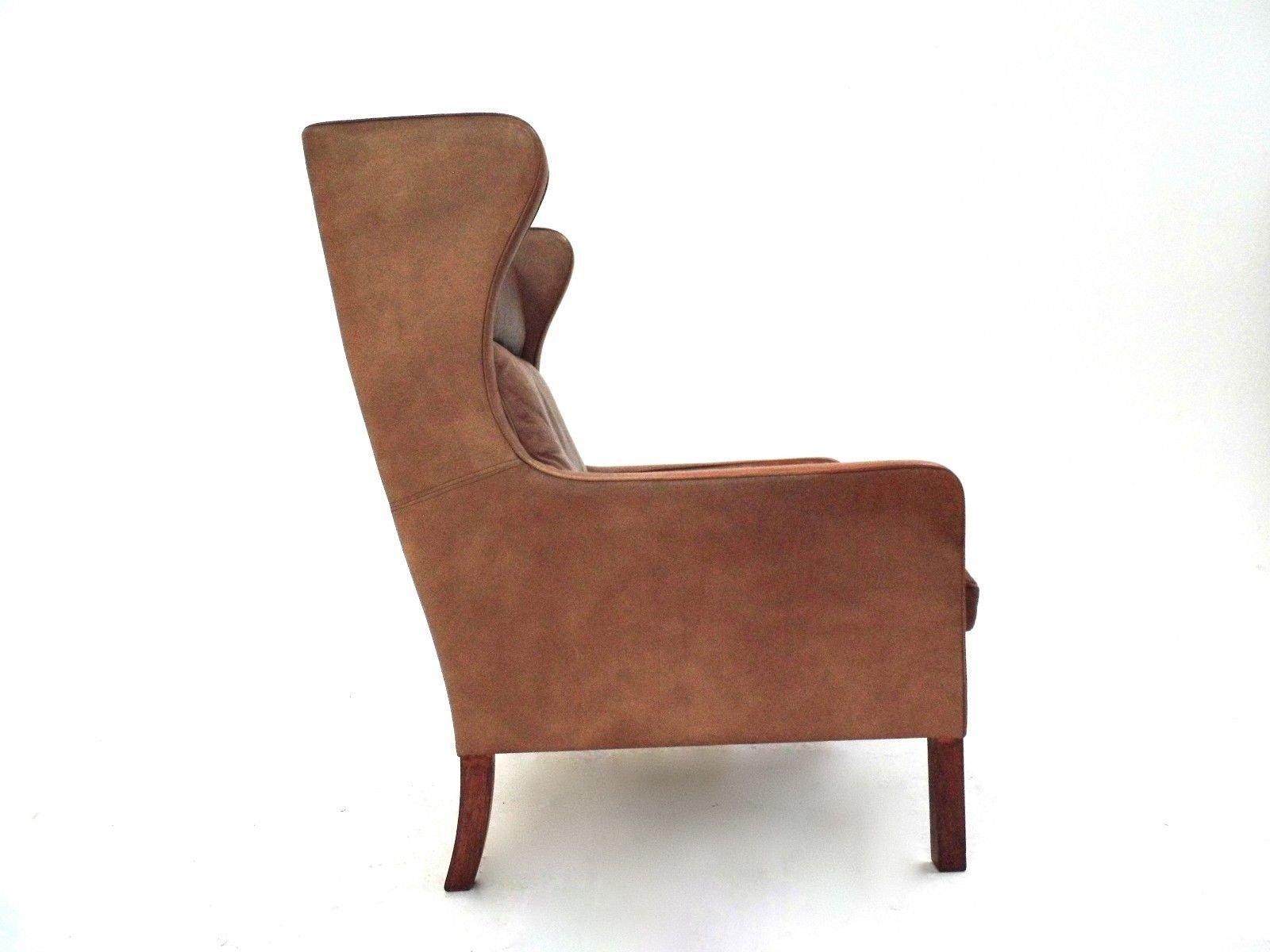 fauteuil haut dossier en cuir tann de stouby 1960s en vente sur pamono. Black Bedroom Furniture Sets. Home Design Ideas