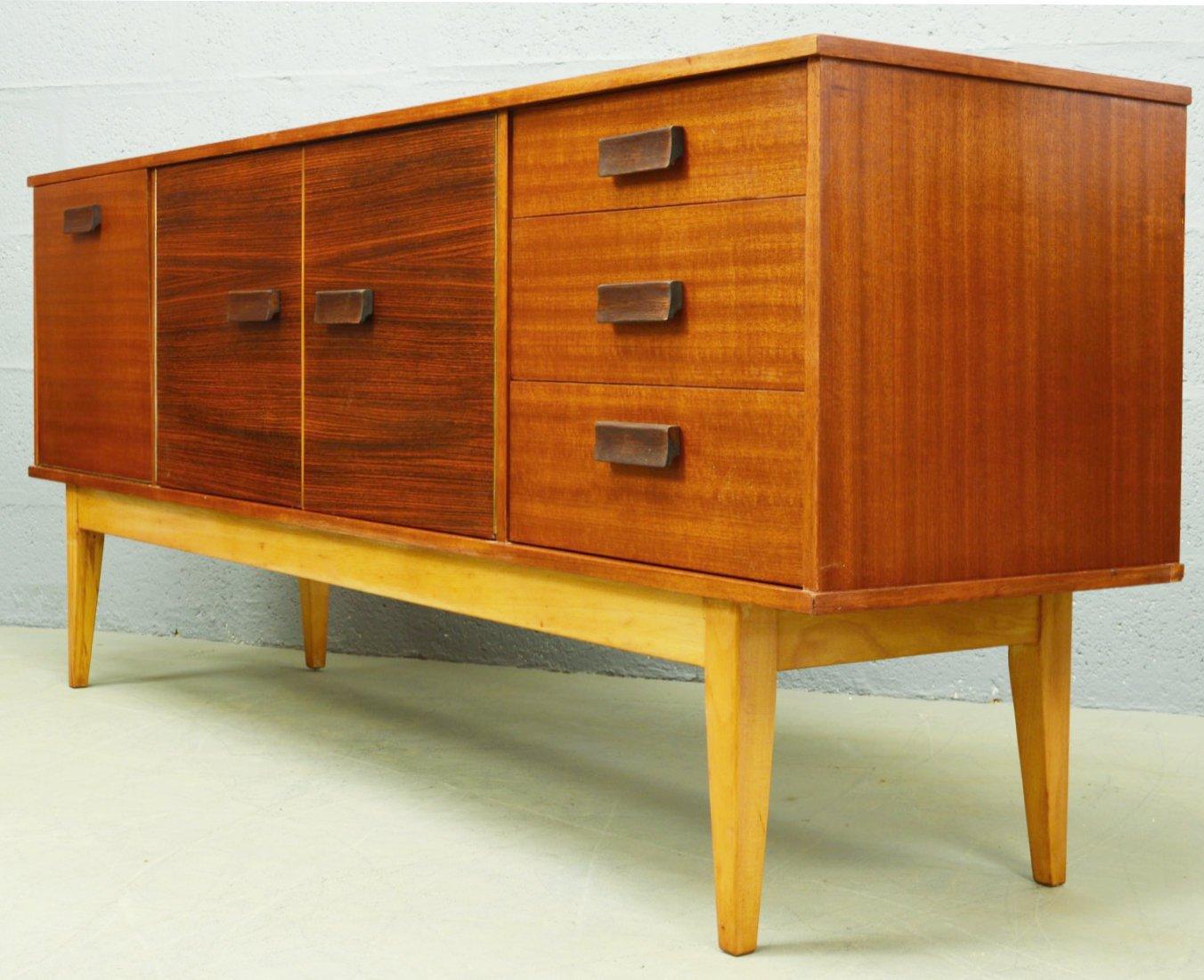mid century rosewood teak sideboard 1960s for sale at. Black Bedroom Furniture Sets. Home Design Ideas
