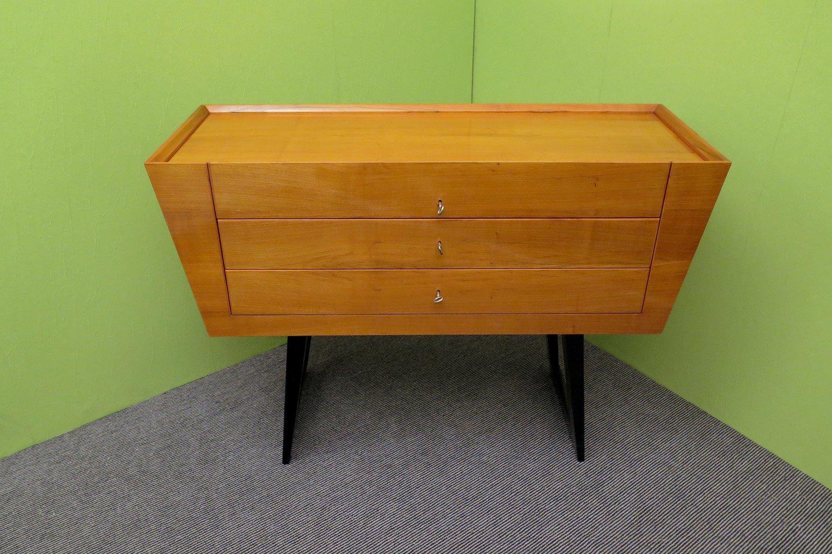 italienische kommode aus kirschholz 1950er bei pamono kaufen. Black Bedroom Furniture Sets. Home Design Ideas