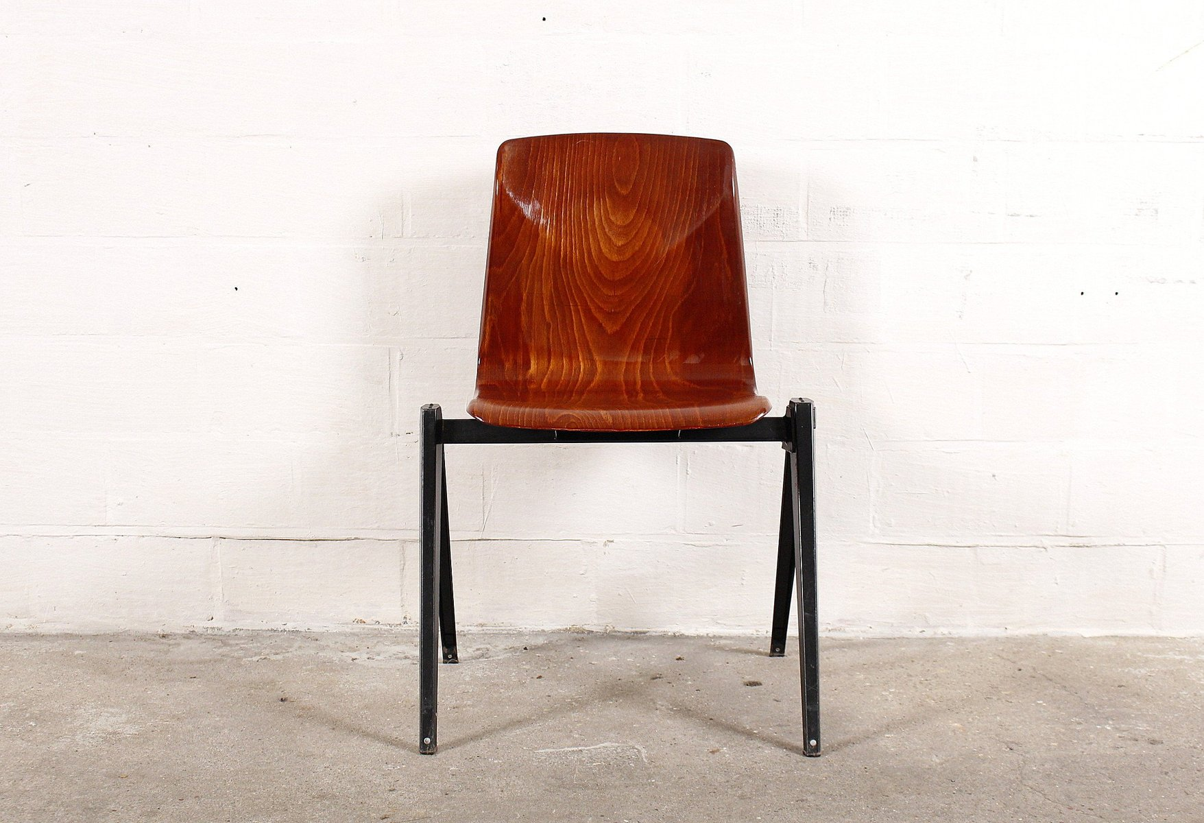 MidCentury Plywood Metal Chair from Pagholz for sale at Pamono