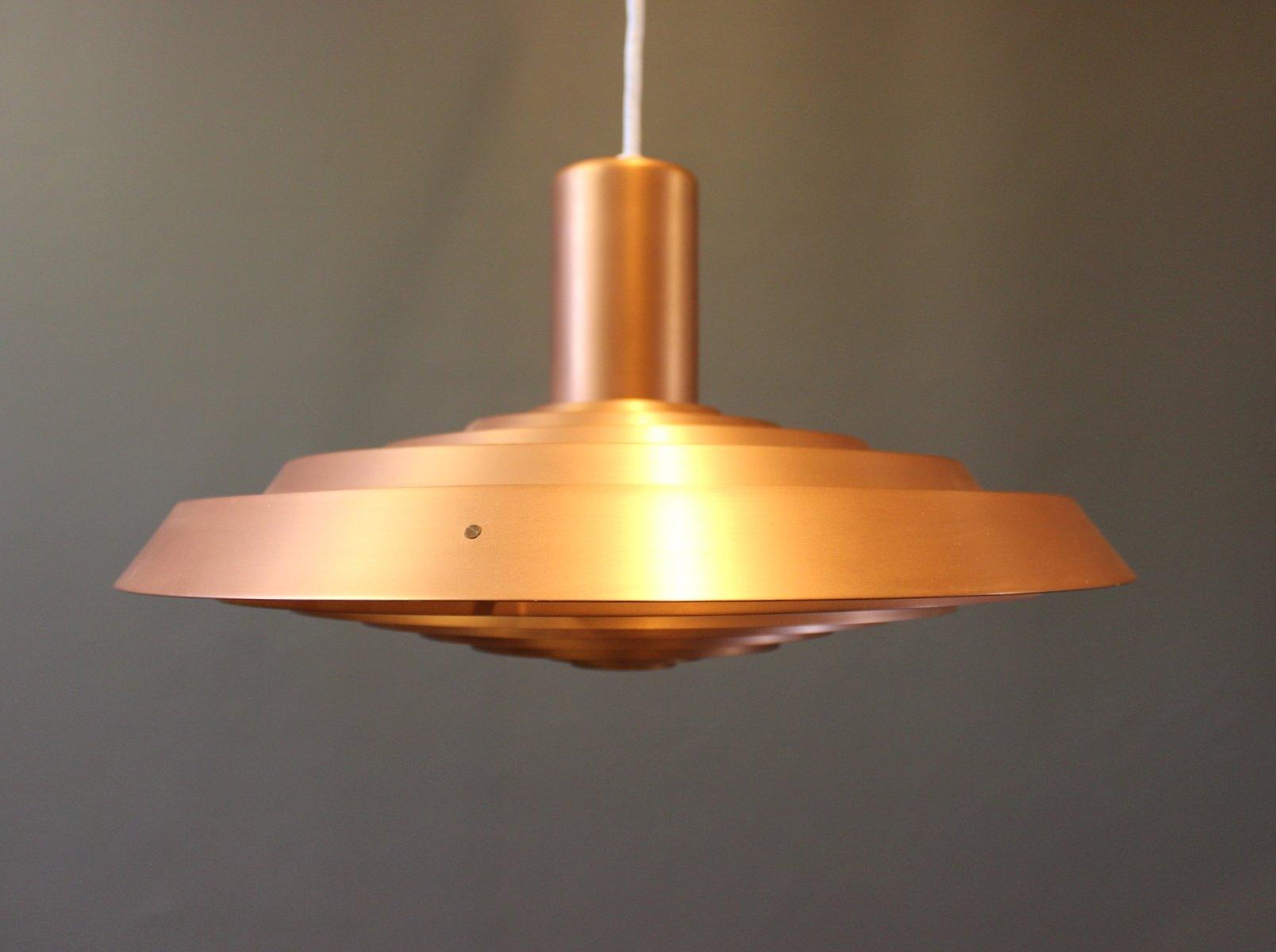 kupfer-plate-haengelampe-von-poul-henningsen-fuer-louis-poulsen-1960er-1 Schöne Lampe Mit Mehreren Lampenschirmen Dekorationen