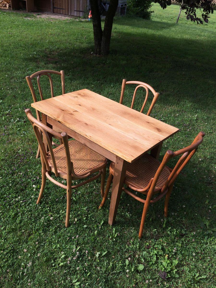 antiker tisch und vier st hle von j j kohn bei pamono kaufen. Black Bedroom Furniture Sets. Home Design Ideas