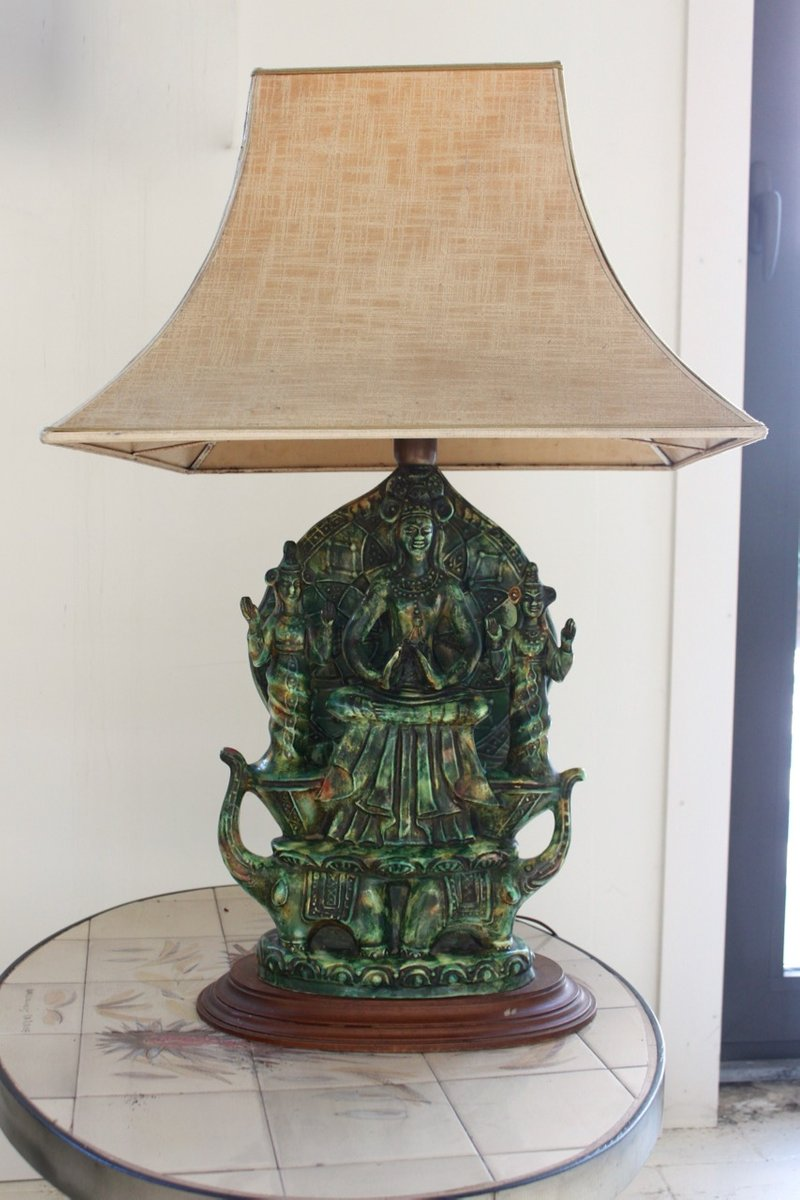 French Buddha Lamp, 1960s for sale at Pamono