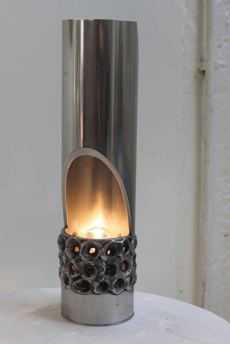 belgische brutalistische aluminium lampe 1970er bei. Black Bedroom Furniture Sets. Home Design Ideas