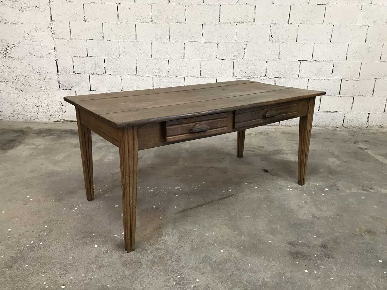 Vintage oak farmhouse table for sale at pamono for Table rallonge chene